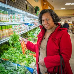 Shopper at Sparkle Market